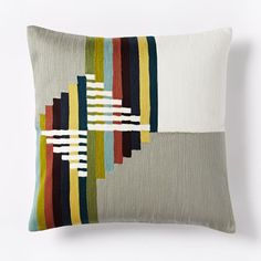 inspiration :: Wallace Sewell Warp Float Crewel Pillow Cover | west elm