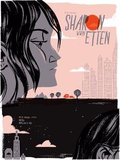 Totally ga-ga over this Sharon Van Etten Gig #Poster. $30 by Anne Benjamin