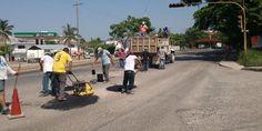 Ayuntamiento intensifica acciones de bacheo en avenidas de Puerto Vallarta