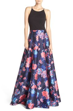 Crushing on this luxe ballgown in a gorgeous floral print.
