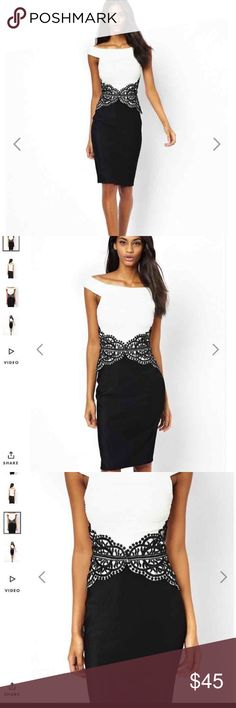 ASOS gorgeous dress worn once for wedding XS This dress is very classic and fitting!!! Only wore for a couple of hours -retailed for $95 size XS cheaper on merc!!! ASOS Dresses Midi