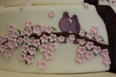 Annemarie: Hand-painted Cherry Blossom Tree and Lovebirds