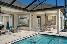 Pool time!  An outdoor kitchen makes this space great! See great pool and patio ideas! http://arhomes.us/1IyuLCd