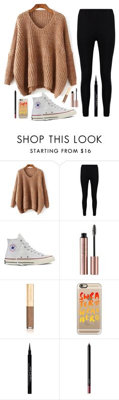"""""""Sweater Weather """" by barbiecar ❤ liked on Polyvore featuring Boohoo, Converse, Dolce&Gabbana, Casetify, Givenchy and NARS Cosmetics"""