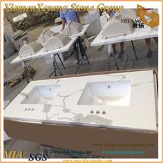 Calacatta Quartz for Kitchen Countertop Quartz Kitchen Countertops, Laminate Countertops, Calacatta Quartz, Ogee Edge, White Quartz, Furniture, Home Decor, Decoration Home, Room Decor