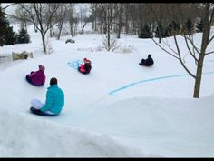 Families celebrate the Olympics at backyard sled track