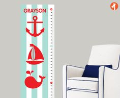 Sail with me Adorable Anchors Nautical Growth by giraffesnstuff, $39.00