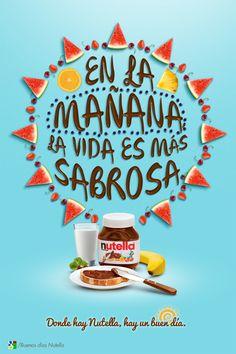 Buen día con Nutella by Alonso Lozano, via Behance