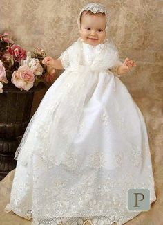 Memory Lace Christening Gowns for Girls