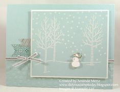 Sweet Little Snowman by mandypandy - Cards and Paper Crafts at Splitcoaststampers