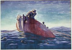 Cave to Canvas, Rockwell Kent, Lobsterman, 1927