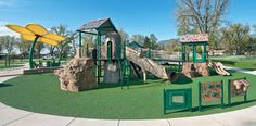 This nature-inspired #playground, located in Colorado Springs, is also #inclusive. It is the first universally #accessible playground in the area, and is another Shane's Inspiration playground project.