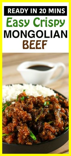 Crispy Mongolian Beef This Mongolian Beef recipe is super easy to make and uses simple, readily available ingredients! Whip this up in under 20 minutes and have the perfect mid-week dinner meal! Liver Recipes, Healthy Beef Recipes, Meat Recipes, Asian Recipes, Cooking Recipes, Healthy Dishes, Healthy Food, Boeuf Mongol, Ginger Beef