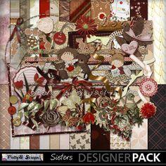 Digital Scrapbooking Kits | Sisters-(PattyB) | Everyday, Family, Friends, Girls, Heritage, Memories | MyMemories