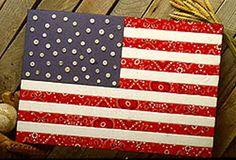No sew flag Craft
