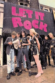 Vivienne Westwood and friends outside Let it Rock, 1973.