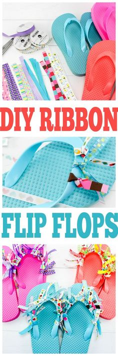 crafts for teens to make, easy crafts for teen girls, diy flip flops with ribbon crafts Woodland Wedding Ideas Trend 2019 Flip Flops Diy, Ribbon Flip Flops, Flip Flop Craft, Decorate Flip Flops, Girls Flip Flops, Easy Crafts For Teens, Easy Diy Crafts, Diy Projects For Teens, Diy For Teens