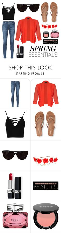 """""""5️⃣"""" by cm77858 ❤ liked on Polyvore featuring beauty, AG Adriano Goldschmied, City Chic, Boohoo, Aéropostale, Tiffany & Co., claire's, Christian Dior, Charlotte Russe and Gucci"""