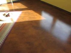 Amazingly cheap and stunning floors - DIY Stained Concrete - YouTube     https://www.youtube.com/watch?v=bGtRsJRTtdo