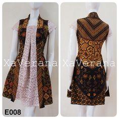 Dress velvet burgundy outfit for 2019 Model Dress Batik, Batik Dress, Blouse Batik Modern, Dress Batik Kombinasi, Outer Batik, Model Kebaya, Batik Kebaya, Batik Fashion, Blouse Models