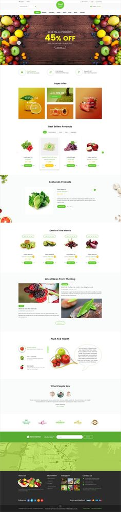 Fruit is clean and elegant design #PSD template for organic shop #eCommerce websites download now➩ https://themeforest.net/item/fruit-organic-ecommerce-template/19327827?ref=Datasata