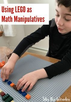 Using LEGO bricks and mini figures as math manipulatives can make make math come alive and more fun for your children or students!