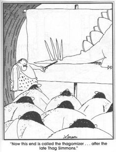 the far side comics online Far Side Cartoons, Far Side Comics, The Far Side, Caveman Cartoon, Fighting Moves, Gary Larson Far Side, Gary Larson Cartoons, Prehistoric Animals, Tv Shows Online