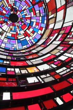 Tom Fruin. modern day stained glass. watertower installation