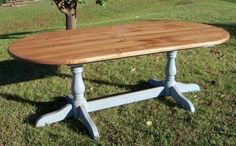 Country Farm Tables, Double Pedestal Table