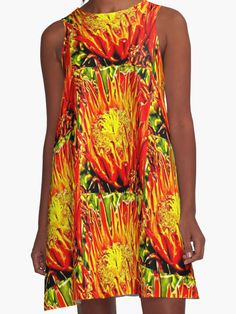 Southwest Cactus Flower dress by Judi Saunders.