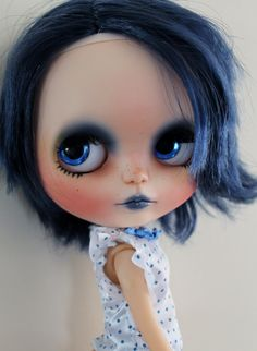 Blue a ooak custom Blythe doll by WillowDesignstoyshop on Etsy