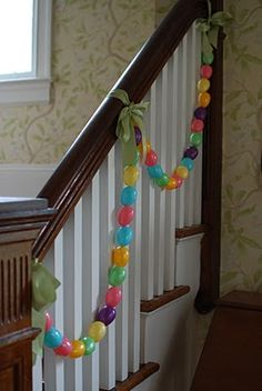 #Easter egg garlands can brighten your halls! -First Texan Realty