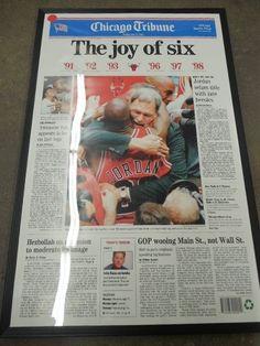 Chicago Tribune Chicago Bulls The Joy of Six Framed Poster Print Michael Jordan
