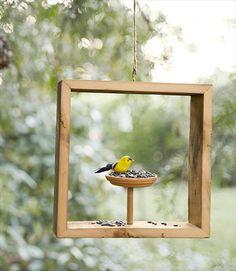 A frame bird feeder... practical landscape aesthetics
