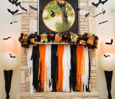 Halloween mantle wit