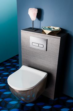 Metallics are still taking over our homes, so add a luxury touch to contemporary bathroom schemes with Bauhaus' glamorous Svelte Platinum Wall Hung WC. http://www.crosswater.co.uk/bathroom-inspiration/get-the-look-teal-appeal/