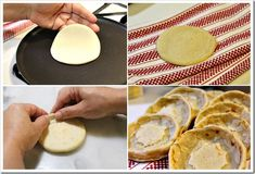 Sopes Recipe, step by step instructions with photos of the process. How To Make Sopes, Food To Make, Masa Recipes, Cooking Recipes, Mexican Dishes, Mexican Food Recipes, Mexican Sopes, Gorditas Recipe Mexican, Sopes Recipe
