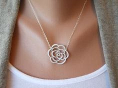 Rose Necklace by morganprather on Etsy, $23.00