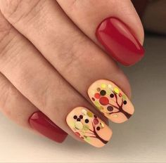 These nails are simply too much. It's possible to use nail art decals on a single nail or decorate all your nails to coincide. My nail art decals are best Spring Nail Art, Winter Nail Art, Winter Nails, Spring Nails, Fall Manicure, Summer Nails, Diy Nails, Cute Nails, Shellac Nails