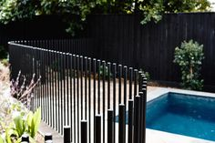 For our benefit when swimming in an exclusive swimming pool, we require to add a fencing. This can stop complete strangers as well as wild pets from getting in. Here is an inspiration for wooden pool fence ideas. Fence Landscaping, Pool Fence, Fence Around Pool, Pool Gazebo, Kennedy Nolan, Wooden Pool, Outdoor Pool, Outdoor Decor, Modern Pools
