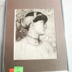 "Late 19th century brown line etching by Thomas Riley, entitled ""Roxana the Beautiful"". Bids close Thurs, 29 Dec from 11am ET. http://bid.cannonsauctions.com/cgi-bin/mnlist.cgi?redbird96/322"
