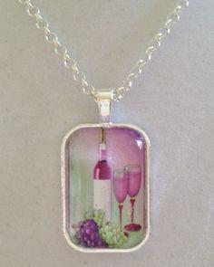 Wine Pendant Necklace by joytoyou41 on Etsy, $25.00