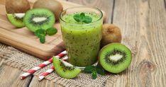 Healthy Fresh Kiwi Smoothie Glass On Stock Photo (Edit Now) 395268664 Kiwi Smoothie, Smoothie Glass, Fruit Smoothie Recipes, Smoothie Drinks, Healthy Sugar, Healthy Breakfast Recipes, Healthy Recipes, Nutrition, Delicious Fruit