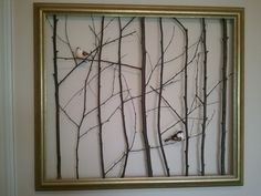 My attempt at the twig frame