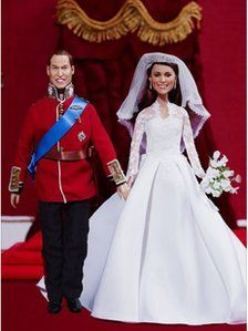 William and Kate wedding dolls