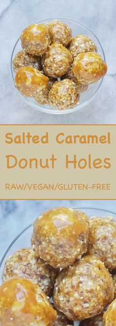 These raw salted caramel donut holes are so healthy you can eat them for breakfast! These magical little balls are made using minimal and clean ingredients and are vegan/gluten-free