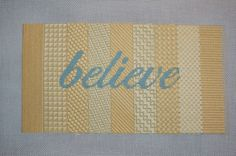 needlepoint a motto for your life.....finished this canvas - ready to be made into a pillow soon.  :)