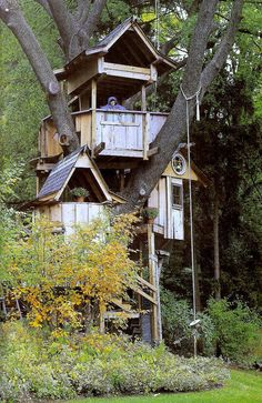 treehouses...that i will build (or dustin will) for my kids but not let them use because i will be to busy  using it...for business lol