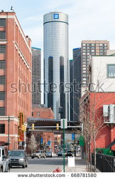 DETROIT, MI - MAY 8: General Motors World Headquarters where the majority of GM operations are based in downtown Detroit on May 8, 2014