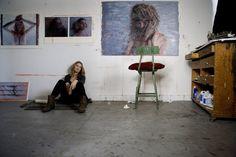Michelle Doll in her studio in New Jersey. Her website is www.michelledoll.com